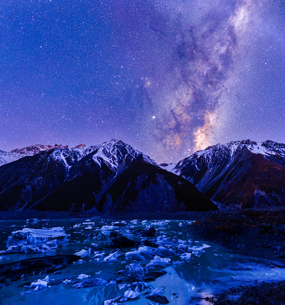 Milky Way Over Tasman Lake