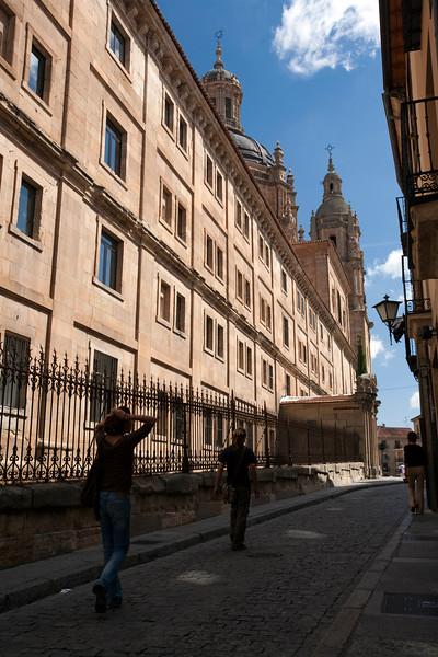 Pontifical University facade, town of Salamanca, autonomous community of Castilla and Leon, Spain