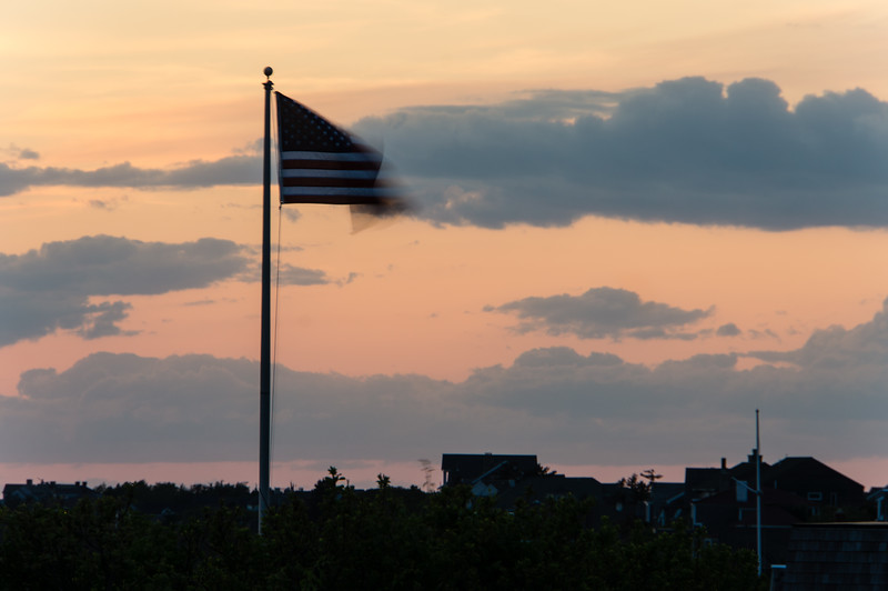 Old Glory at Sunset