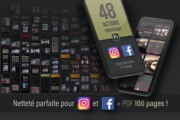Actions Photoshop pour Instagram & Facebook : GRATUIT