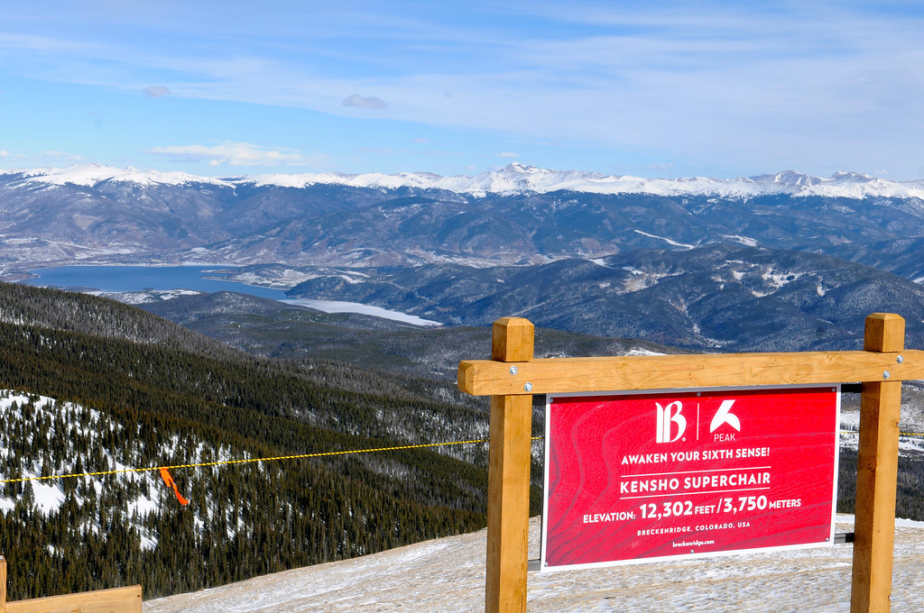 . The view from atop the new Kensho SuperChair at 12,302 feet includes includes a picturesque scene of Lake Dillon and surrounding Summit County. Scott Willoughby, The Denver Post