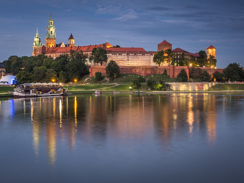 Evening on Wawel Castle, Kraków, Poland