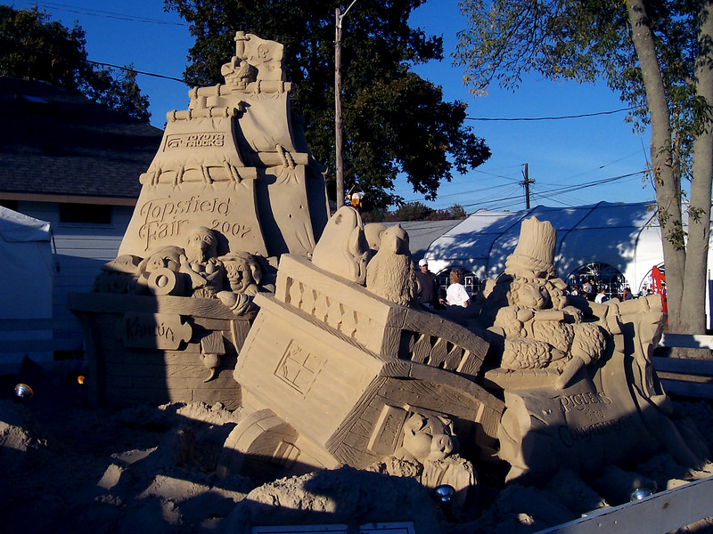This year's sand sculpture.