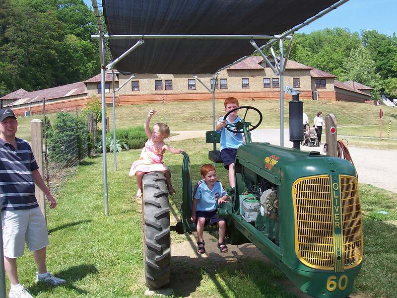 Miller family at the Vanderbilt Farm area