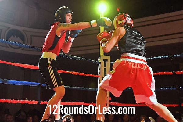 Bout 10:   Eric Pozun, Blue Gloves, GriffonRawl MMA, Wickliffe, OH   -vs-   Alex Cao, Red Gloves, A-Square Fight Club, Ann Arbor, MI,  152 Lbs., Sub-Novice