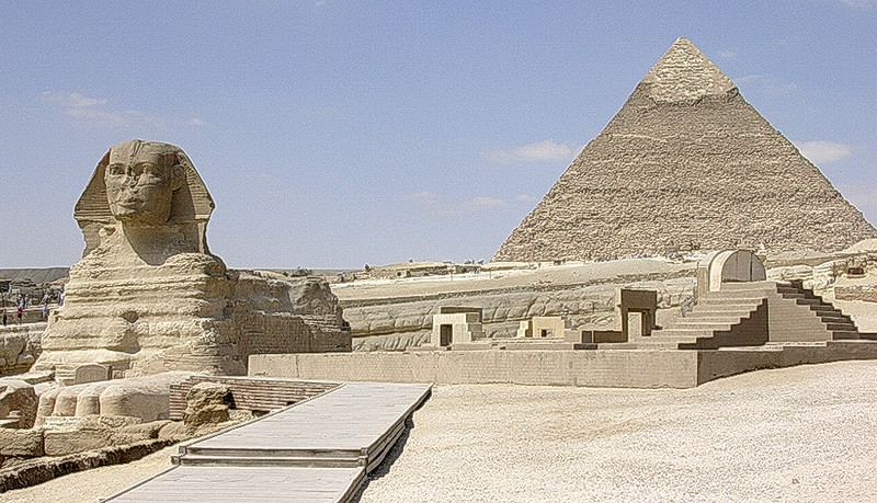 Sfinxen og Kefrenpyramiden (Foto: Ståle)