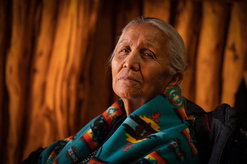 Navajo Elder in Hogan