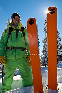 Grace Skis owner Drew Rouse posing with product