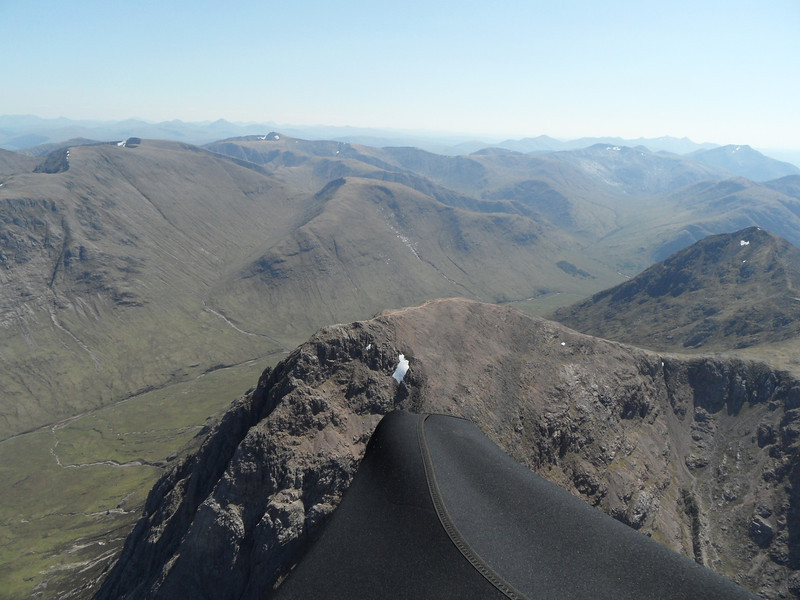 Thermalling over the top of the Buchaille.