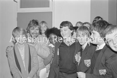 Noel Edmunds at Sir Henry Floyd Grammar School, Dec 1983