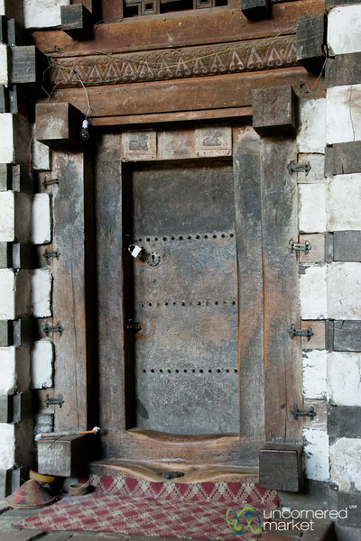 Doorway of 12th Century Yemrehana Kristos Church - Lalibela, Ethiopia
