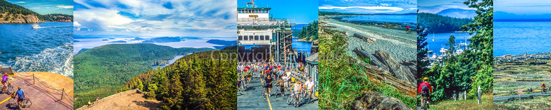 San Juan Islands, Washington - Cyclists