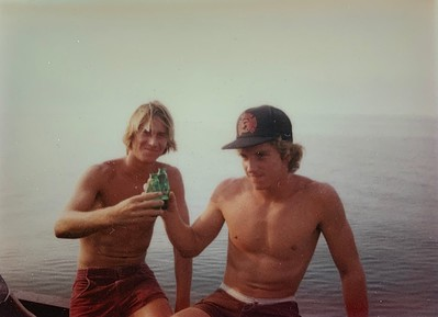 Ray and Pat Toasting Over the Years