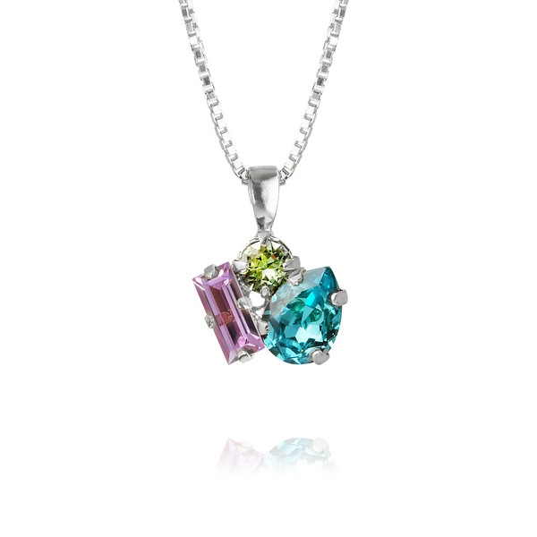 Isa Necklace : Light Turqouise + Violet + Chrysolite.jpg