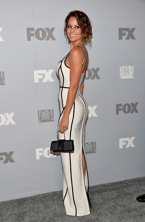 . TV personality Brooke Burke Charvet attends the FOX Broadcasting Company, Twentieth Century FOX Television and FX Post Emmy Party at Soleto on September 22, 2013 in Los Angeles, California.  (Photo by Alberto E. Rodriguez/Getty Images)