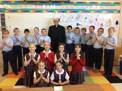 Father David visits 3rd Grade