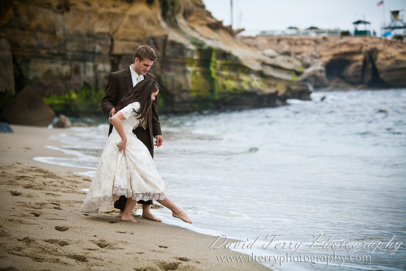 David Terry Photography - Love on the Beach - La Jolla Cove - Romance - Romantic Formals