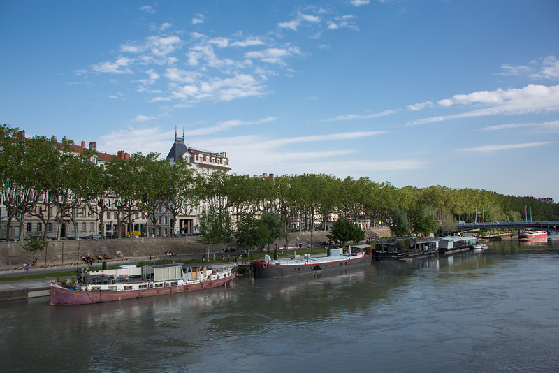 View across the River Rhône to our hotel