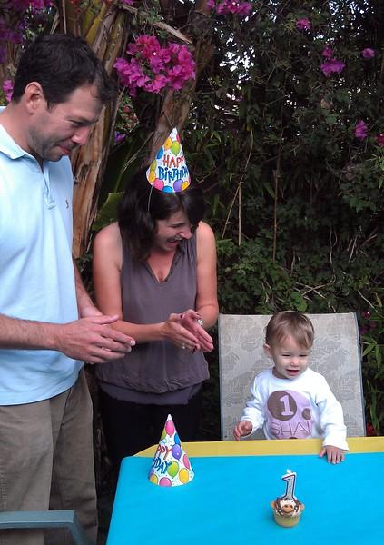 Avram and Abby sing Happy Birthday to Shai