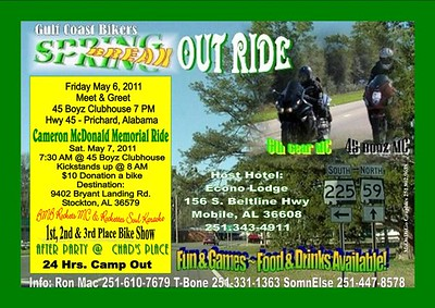 Gulf Coast Bikers Spring Break Out Ride
