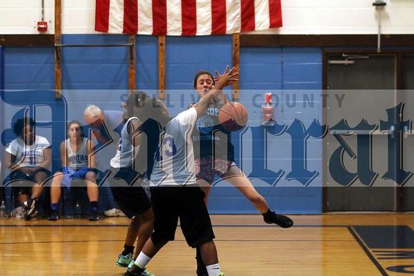 Roscoe/Livingston Manor at Monticello girls basketball scrimmage