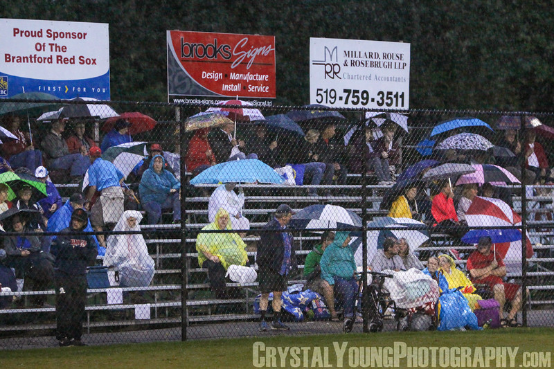 Barrie Baycats at Brantford Red Sox IBL Playoffs, Semifinals Rainout August 11, 2014