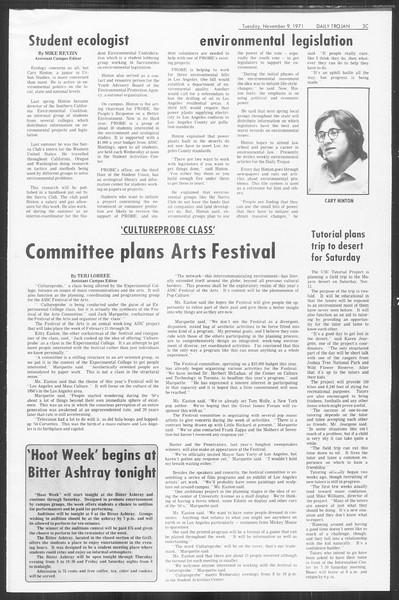 Daily Trojan, Vol. 64, No. 34, November 09, 1971