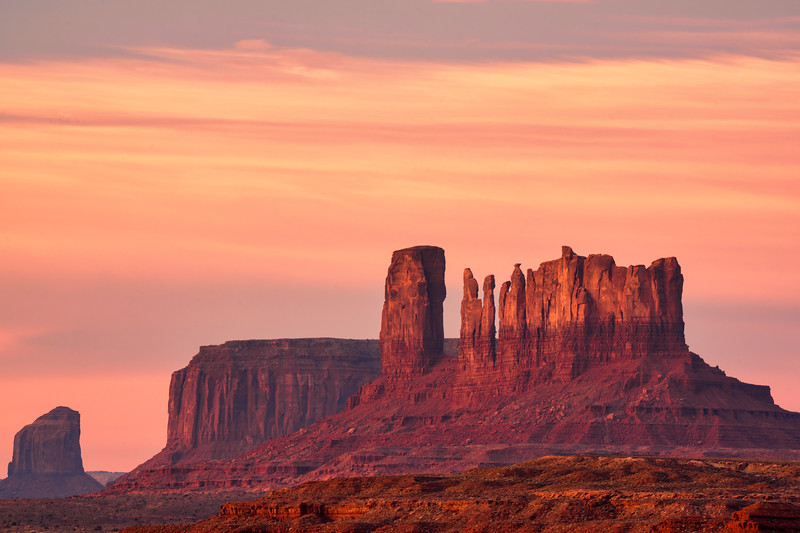 Dawn Light at Monument Valley