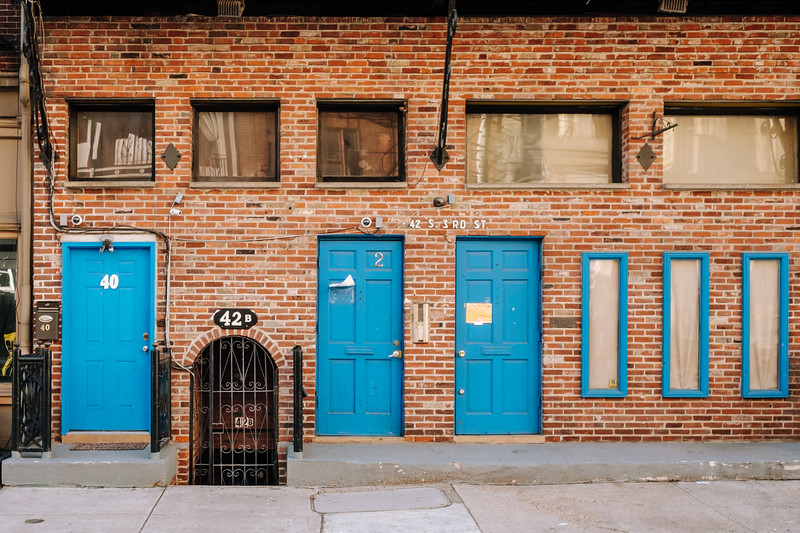 Blue Doors On 3rd Street.