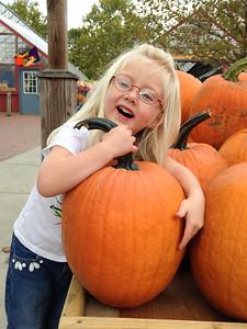 Mackenna at the Pumpkin Patch Oct 14, 2014