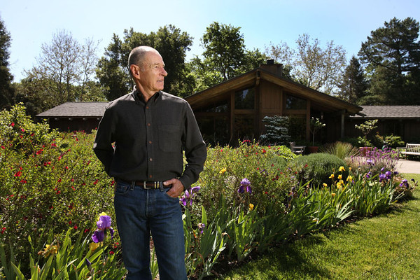 Roger Knopf, well-known South Bay builder shown here at his Morgan Hill home, is on the board of the Regional Medical Center in San Jose.   Silicon Valley-San Jose Business Journal/Dino Vournas