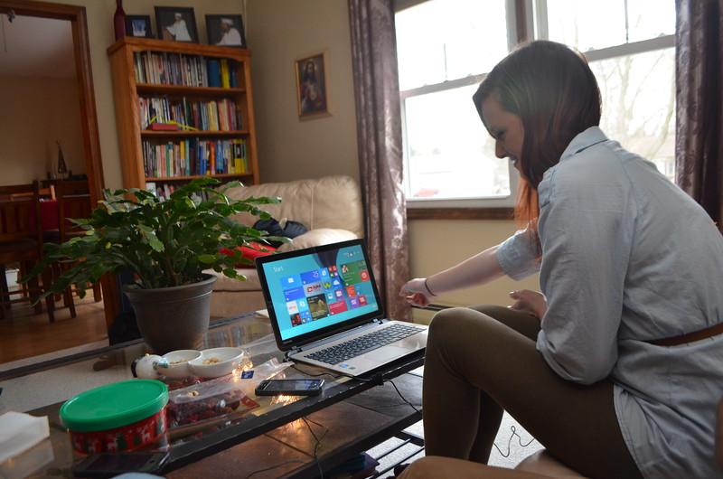 Kirsten's new laptop.