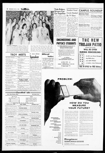 Daily Trojan, Vol. 48, No. 52, December 05, 1956