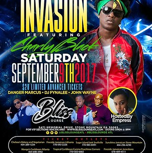 INVASION FEATURING CHARLIE BLACKS LIVE @ BLISS LOUNGE