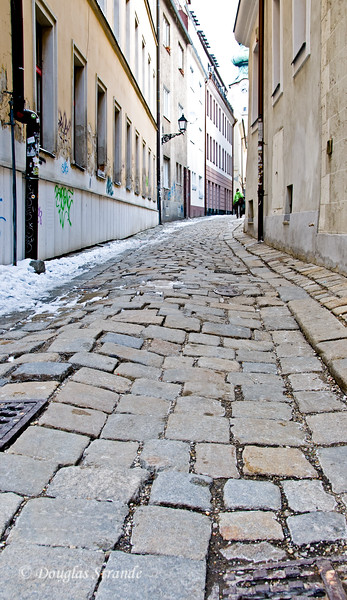Cobblestone walk in Bratislava