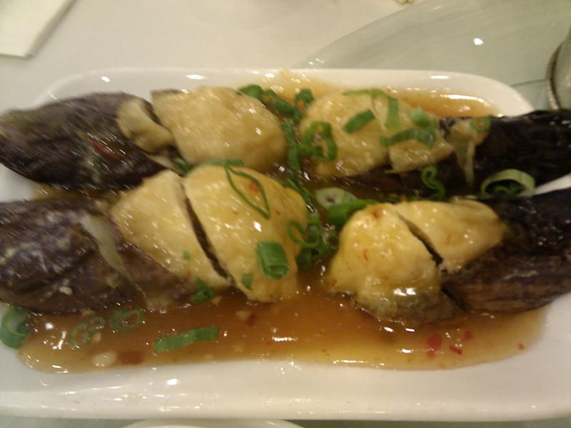 Happy Harbor Restaurant - Eggplant Stuffed with Shrimp Paste