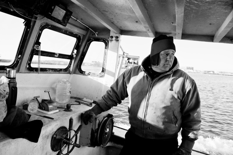 24. Diving for sea scallops in Casco Bay, Maine, March 2013.