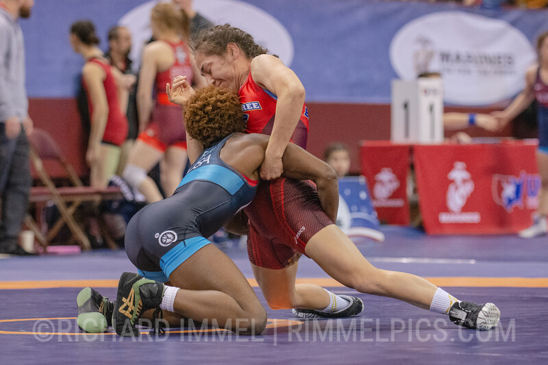 50 kg: Natalie Reyna-rodriguez (McKendree Bearcat Wrestling Club) dec. Asia Ray (Unattached), 13-9