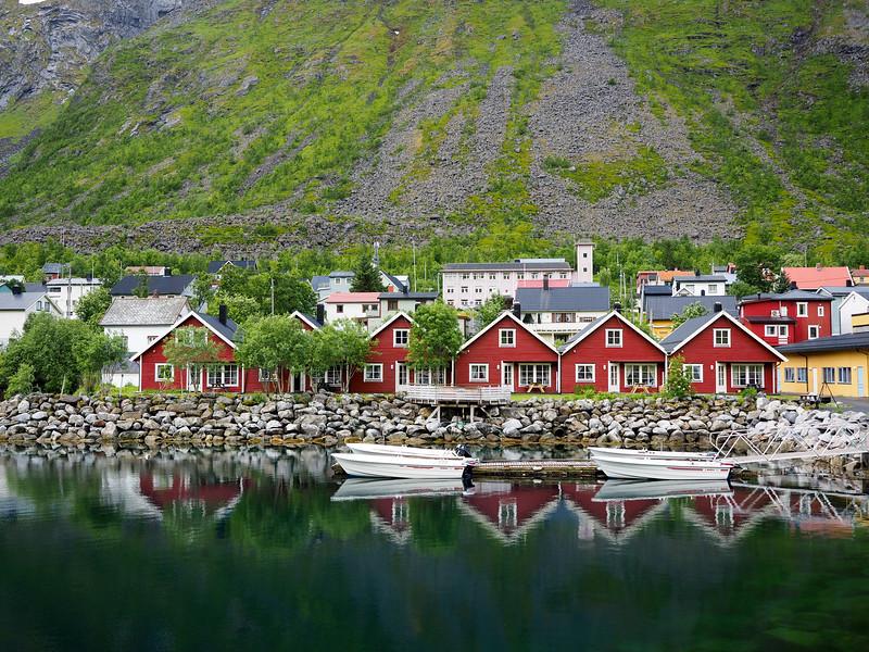 Houses in Gryllefjord, Norway