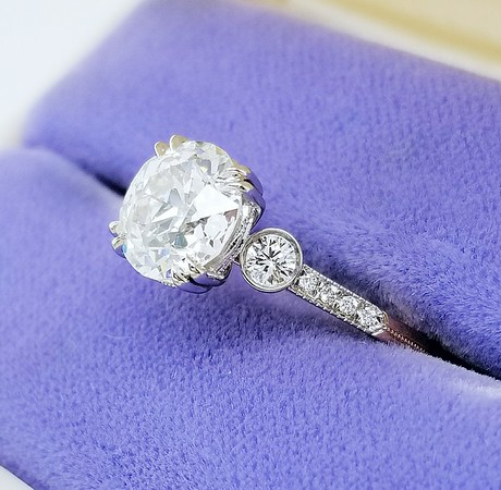 "The ""TBD"" Solitaire- Featuring a 1.95ct Old European Cut Diamond"