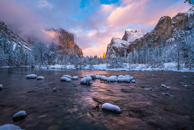Yosemite Winter Breaking Storm Sunset Fine Art Photography