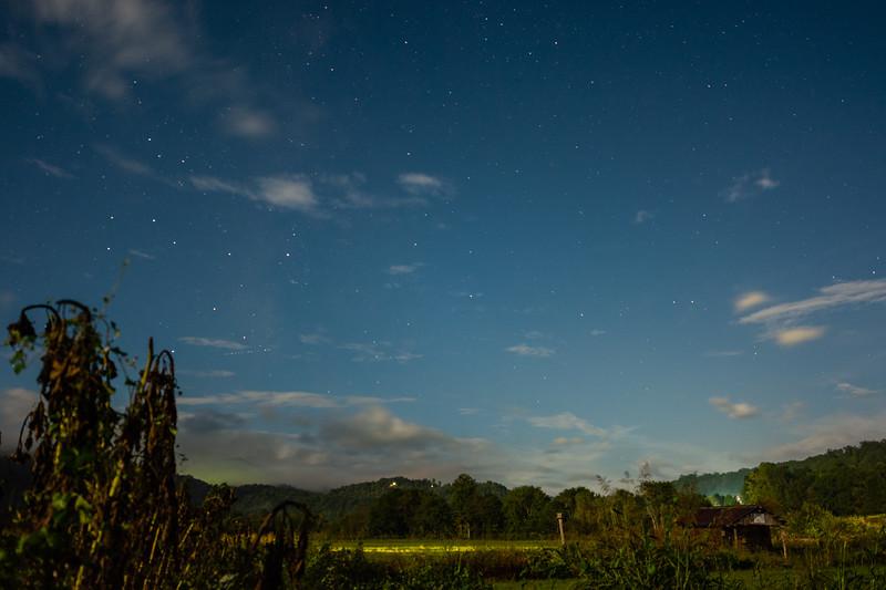 The night sky seen from the Kituwah Farm in Bryson City, September 25, 2018. (Joseph Forzano / Deep Creek Films)
