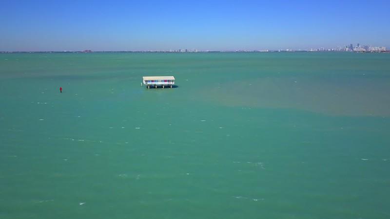 Stiltsville Biscayne Bay Miami Florida 4k 24p aerial video