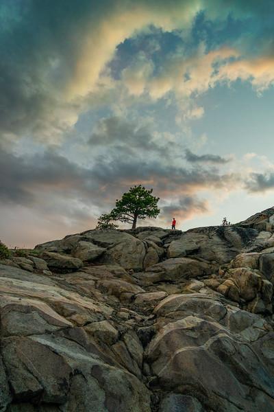 Man at Sunset on Donner Summit