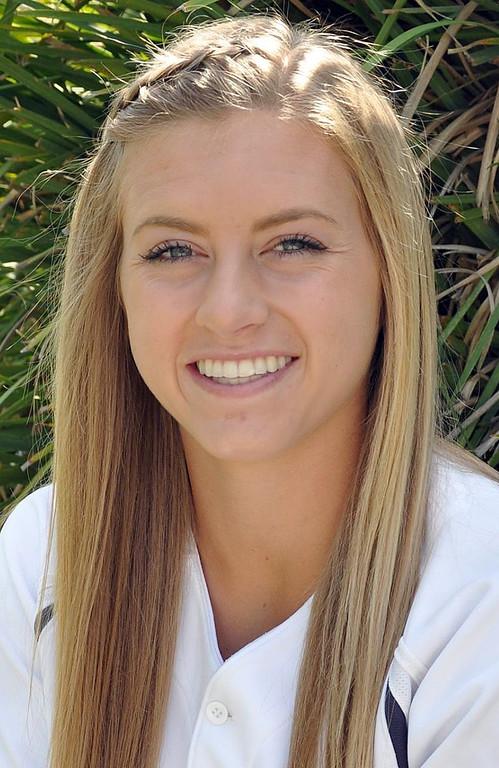 . Krista Mann has been named to The Sun\'s All-Area softball team. Mann plays softball for Los Osos High School. Courtesy photo to The Sun.