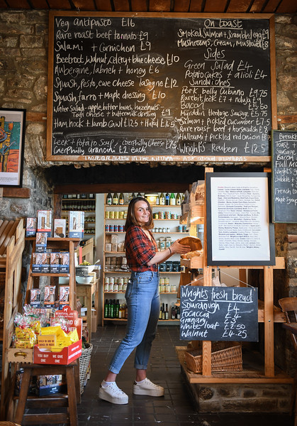 Carmarthenshire, 2nd December 2019 Golden Groves Arms in Llanarthney near Carmarthen which has become on of Wales' most popular place to eat. Pictured is staff member Ezme Short.