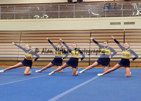 Cheer at LCC - Grand Ledge JV - Round 2 - Jan 25