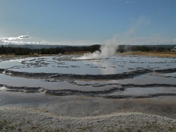 Upper and Lower Geyser Basins in Yellowstone