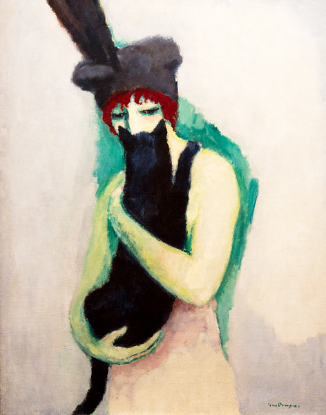 Kees vanDongen: Woman with Cat, 1908