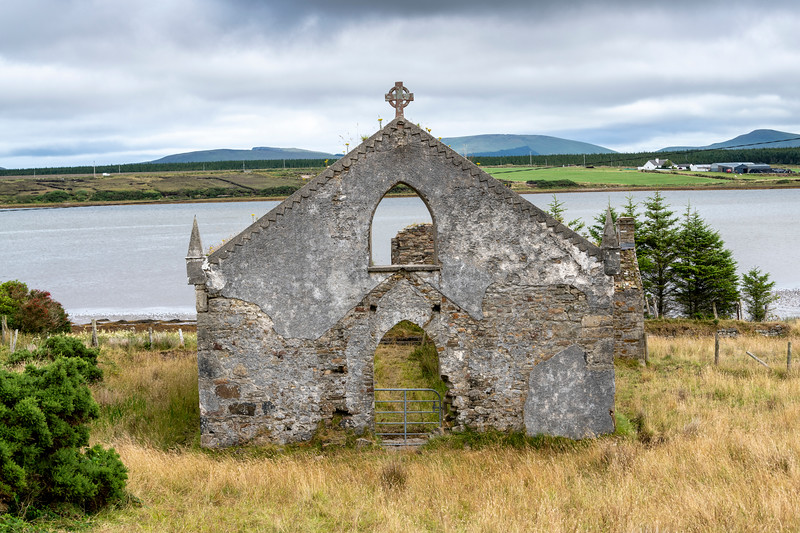 View of abandoned building, Pullathomas, County Mayo, Ireland
